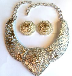 Jose Barrera Falling Leaves Necklace Set  by SCLadyDiJewelry