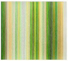 parallel 26 yellow Artist Anne Lindberg creates abstract drawings and installations made from graphite and colored thread that are both rhythmic and mesmer