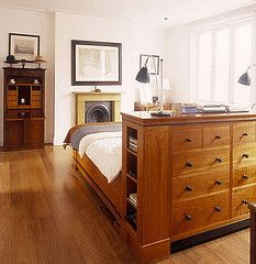 bedroom flooring These 7 small bedroom storage ideas will blow your mind and make your bedroom the functional space that it needs to be. Bedroom Dressers, Bedroom Bed, Bedroom Furniture, Master Bedroom, Bedroom Decor, Bedroom Divider, Bedrooms, Large Bedroom, Master Suite