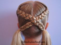 Try the letter X braid on your daughter's hair!