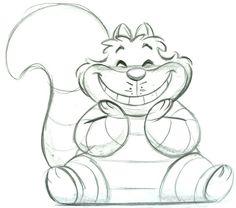 Alice in wonderland Cheshire Cat sketch by #SteveThompson