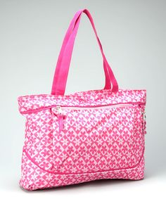 Take a look at this Pink Diaper Tote by Ziggles on #zulily today!