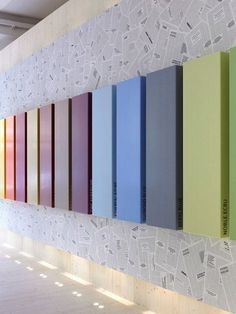 Corian® 3D Wall Surface for interior/exterior DuPont™ Corian® by DuPont #colour #3d #rainbow @Cori Heileson® Design