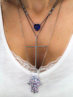 Compre Colar de coração ródio negro semi joia cristal tanzanita tiffany na Waufen ✓ Semjoias Finas ✓ Ótimos Preços ✓ Entrega Rápida e Segura ✓ Pgto em até 12 Vezes
