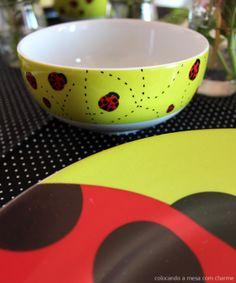 ladybug table setting