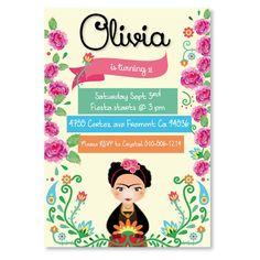 Invitación de cumpleaños Frida imprimible y por CumpleKits en Etsy