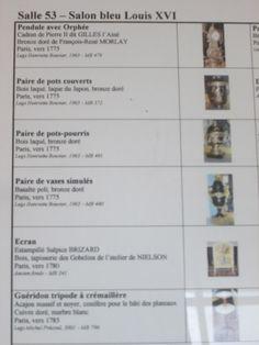 Musée Carnavalet, Paris IV. - Salle 53, Salon bleu Louis XVI.-1)  SALON BLEU LOUIS XVI: v. 1780. A l'exubérance rocaille succéda un retour aux lignes sobres reprises de l'architecture antique devenue, au tournant des années 1760, la référence obligée des