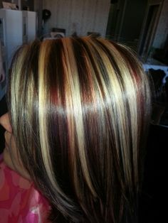 Red, Blonde & Brown highlights & Lowlights