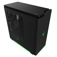 NZXT Razer Edition Mid Tower Cases CA-H440W-RA Matte Black/Green - http://pctopic.com/computer-cases/nzxt-razer-edition-mid-tower-cases-ca-h440w-ra-matte-blackgreen/