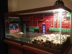 If you have a pet turtle in an aquarium you need a turtle topper above tank basking platform. Because it lets you keep your tank full for maximum swim space Turtle Terrarium, Reptile Terrarium, Terrarium Ideas, Turtle Aquarium, Turtle Pond, Aquarium Ideas, Turtle Care, Pet Turtle, Turtle Enclosure