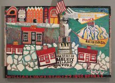 William Hawkins, The Statue of Liberty, enamel and mixed media on plywood, 1986