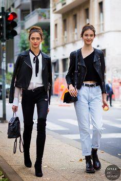 Milan Fashion Week SS 2016 Street Style: Zhenya Katava - www. Street Looks, Look Street Style, Street Style 2016, Model Street Style, Street Chic, Street Fashion, Models Off Duty, Look Jean, Modelos Fashion