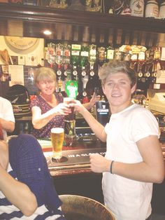 Nialler getting a pint :) << that's more than pint.....