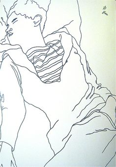 Cocteau's Drawing of Jean Desbordes (1929) by athena glow, via Flickr