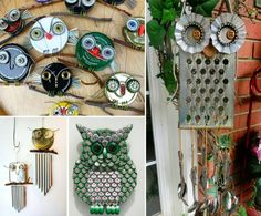 DIY Recycled Owl Art Pictures, Photos, and Images for Facebook, Tumblr, Pinterest, and Twitter
