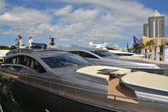 Pershing #Yacht on display at the #MiamiBoatShow 2015, 12-16 Feb 2015. #luxury #yacht #MadeInItaly #Mybs2015