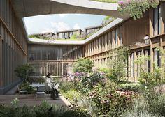 Trevo inspira projeto de Herzog & De Meuron para hospital