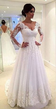 Cool Modest Wedding Dresses US$127.07-Fabulous Long Sleeve Long Lace A Line Wedding Dress with Open Back. ww... Check more at http://24shop.ga/fashion/modest-wedding-dresses-us127-07-fabulous-long-sleeve-long-lace-a-line-wedding-dress-with-open-back-ww-2/