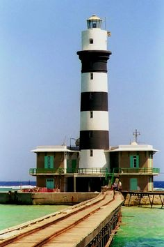 Daedalus Lighthouse, Red Sea, Egypt-by gillybooze