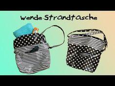 Strandtasche l Wendetasche l Shopper nähen - DIY-Tutorial l Nähanleitung - YouTube
