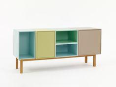 Shelves, sideboards and sofas from Cubit – modular and individual Dvd Shelves, Storage Shelves, Lp Regal, Sofa Shelf, Etagere Cube, Regal Design, Modular Shelving, Cabinet Colors, Tv Cabinets