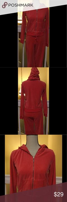 Victoria's Secret Plush & Lush Special Collection Victoria's Secret Plush & Lush Special Collection. Soft Velvet Candy Apple Color (not red but not pink) Full Zip Sweater with Hoodie and 2 pockets. This is a collection from Victoria's Secret that isn't available and it's hard to find. Pullover and sweatpants are size M. Both are 75% Cotton and 25% Polyester. Great conditions❣️👖👚👓 Victoria's Secret Other