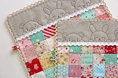 two sleepy time doll quilts   blogged   Amy   Flickr