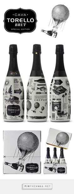 TORELLÓ BRUT SPECIAL EDITION Cava by Enric Aguilera. Source: Behance. #SFields99 #packaging #design #inspiration #branding #alcohol #beverages #spirits #sparkling #wine #sleever - created via https://pinthemall.net