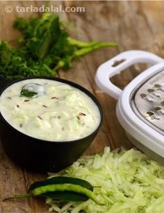 Cucumber raita, is the ideal salad vegetable for weight-watchers as it comprises of high amounts of water and very little calories. This light salad is rich in intestine-friendly bacteria that maintain intestinal health. The tempering gives a peculiar curry-like flavour to this raita, making it a perfect side dish for any south indian meal.
