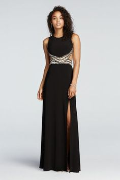 e11782f3ba11 Open Back Prom Dress with Illusion Beaded Waist Style 55058