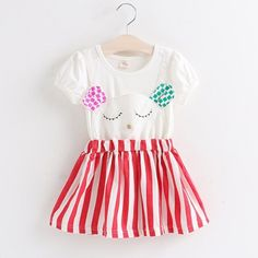 Missi-foo red cat dress