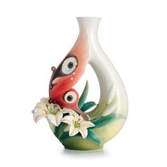 Image detail for -Franz Porcelain Collection Butterfly And Lily Flower Large Vase ...
