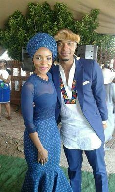 the best couples shweshwe dresses - Reny styles