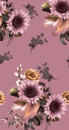 Florals - fabric pattern design MJ0332_IND - MyDigitex