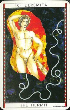 IX. The Hermit - Tarocco Mitologico by Amerigo Folchi