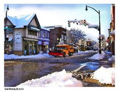 Beaver Street, Sewickley, PA in the winter