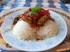 ÚŽASNÁ ČÍNA!!! Food 52, Poultry, Food And Drink, Menu, Cooking Recipes, Treats, Chicken, Diet, Asia