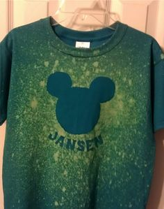 I saw that going differently in my mind...: DIY bleach Mickey Mouse shirt
