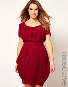 ASOS CURVE Tulip Dress With Tie Waist