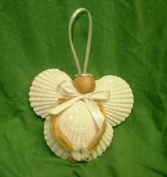 scallop shells ornaments | Scallop Shell Angel Ornament by SeasideCrocheting on Etsy, $8.00