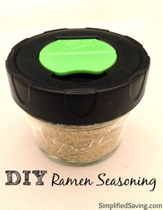 DIY Ramen Seasoning. Added chicken stock to water instead of powder.