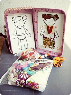 Fabric Scrap Mini Doll Kit by This Mama Makes Stuff