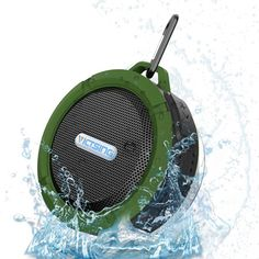 Vic Tsing Wireless Bluetooth 3.0 Waterproof Outdoor & Shower Speaker With 5 Speaker/Sunction Cup/Mic/- Hands Free Speakerphone (Army Green) #Speaker #Bluetooth #Waterproof #Bluespeaker #Waterproofbluetoothspeaker #waterproofspeaker