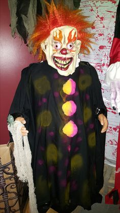 dancing santa as scary clown scary dollsscary clownshalloween decorations dancing - Scary Clown Halloween Decorations