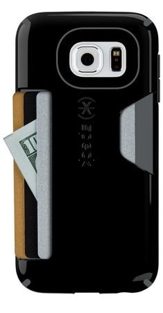 Speck Samsung Galaxy S6 CandyShell Card Case - Black / Slate Grey
