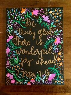 I made this :) Shop Glassy Gurlz! Canvas Painting, Home Decor, Bible Quote, Wall Art Size: 12x12l  Great gift for a mom, girlfriend, sorority sister, or yourself!