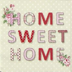 4 xSingle Luxury Paper Napkins for Decoupage and Craft Vintage Home Sweet Home