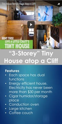"Tiny House Tour: Tour of ""3-Storey"" Tiny House atop a Cliff 