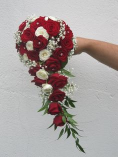 Brautstrauß weiße und rote Rosen Bridal bouquet of white and red roses Bride Flowers, Bride Bouquets, Wedding Flowers, Wedding Picture List, Wedding Photos, Romantic Wedding Colors, Floral Wedding, Bridal Shower Decorations, Wedding Decorations