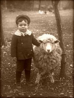 I just love this boy and his sheep DOES IT MAKE ME A BAD PERSON TO WANT TO KNIT THAT SHEEP? HE LOOKS SWEATER READY